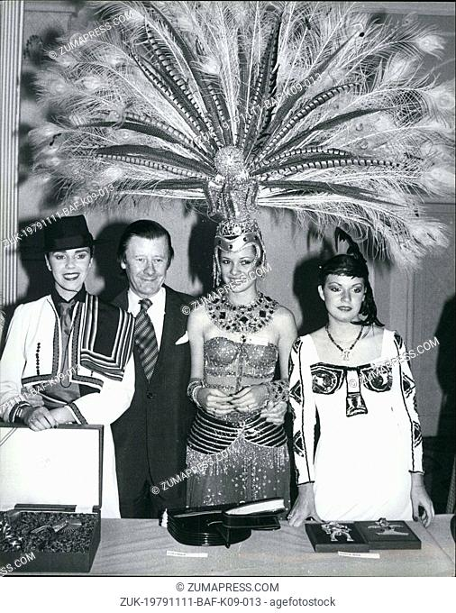 Nov. 11, 1979 - Variety Club Lunch For 'Miss World' Finalists: The finalists of the 1979 Miss World Beauty contest were guests at a luncheon given by the...