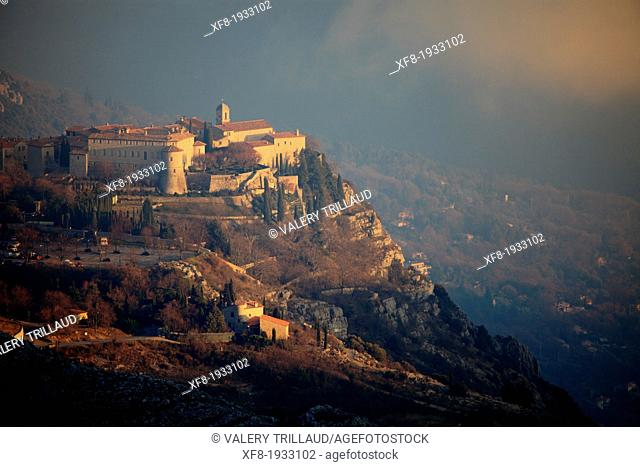 Medieval perched village of Gourdon, Alpes-Maritimes, 06, French Riviera, Cote d'Azur, PACA, France