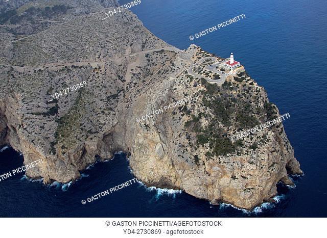 Aerial view of Cape Formentor, Mallorca, Balearic island, Spain