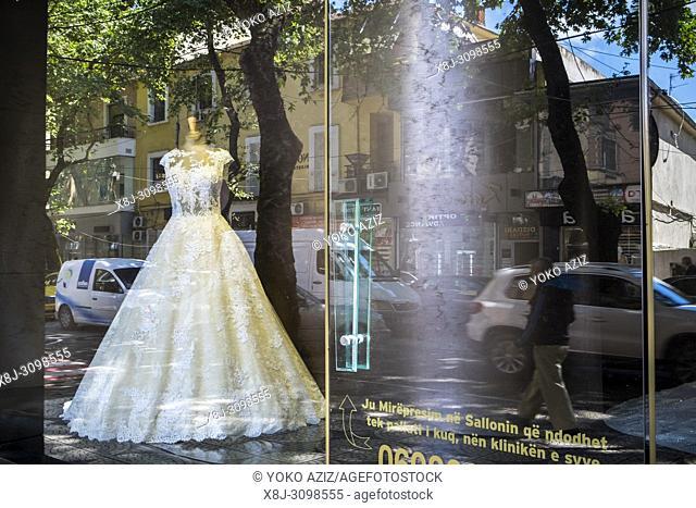 Albania, Tirana, wedding dress shop