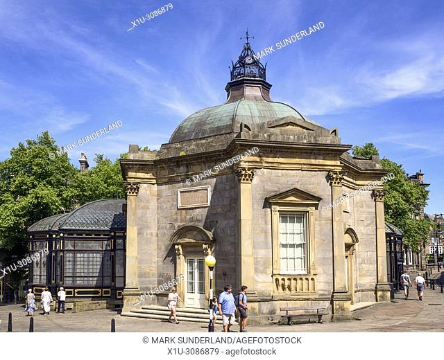 The Royal Pump Room Museum in summer at Harrogate North Yorkshire England