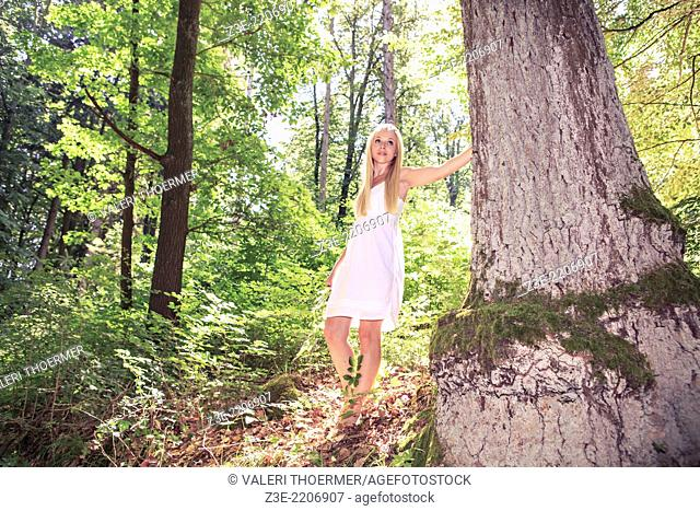 portrait of a young woman portrait in the forest near Coburg, Germany