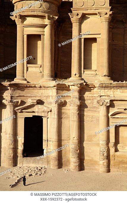 The gate of El Deir or Monastery, Petra, Jordan