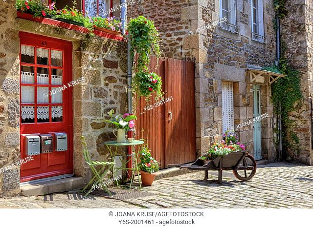 alley in Dinan, Brittany, France