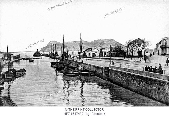 The Rock of Gibraltar from Algeciras, Spain, early 20th century