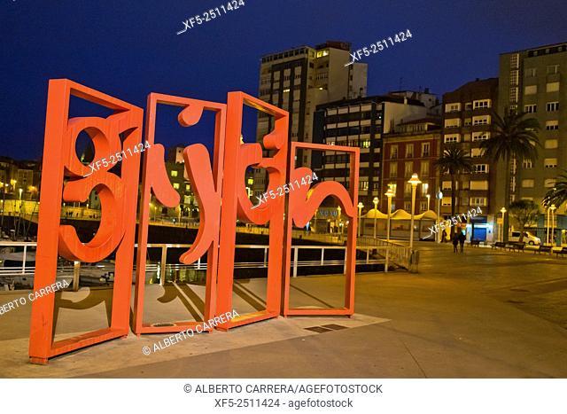 Las letronas, Juan Jareño Sculpture, Jardines de la Reina, Gijón, Asturias, Spain, Europe