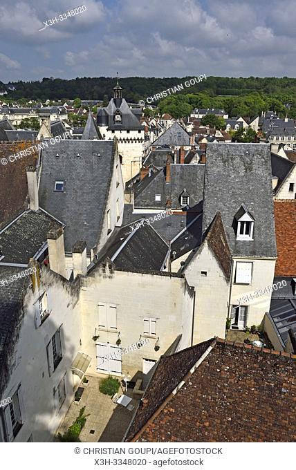 Loches in Touraine, department of Indre-et-Loire, Centre-Val de Loire region, France, Europe
