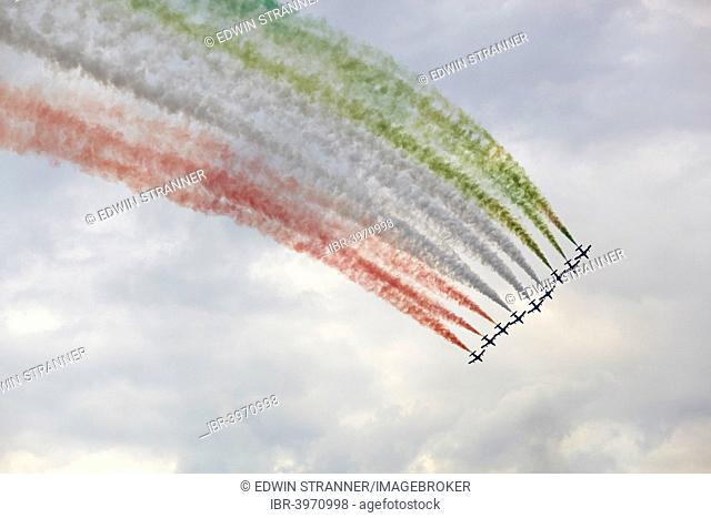 Frecce Tricolori, aerobatic demonstration team, airshow Airpower 2013, Zeltweg, Styria, Austria