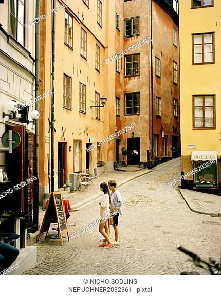Couple in Gamla Stan, Stockholm