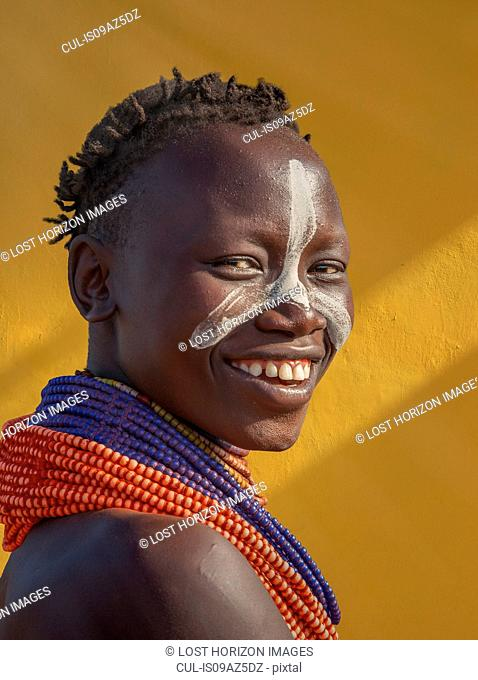 Young woman of the Karo Tribe, Omo Valley, Ethiopia