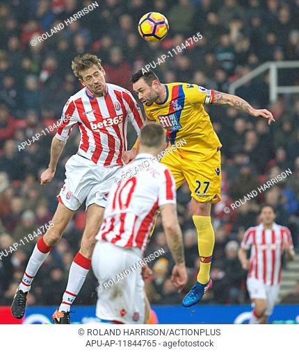 2017 Premiership Football Stoke City v Crystal Palace Feb 11th. February 11th 2017, Stoke, Stoke on Trent, England, Premier League football