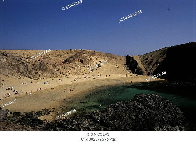 Spain, Canary Islands, Lanzarote, Playa del Papagayo