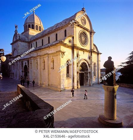 Panoramabild, Kirche Sibenik, Kroatien, Dalmatien, Sibenik