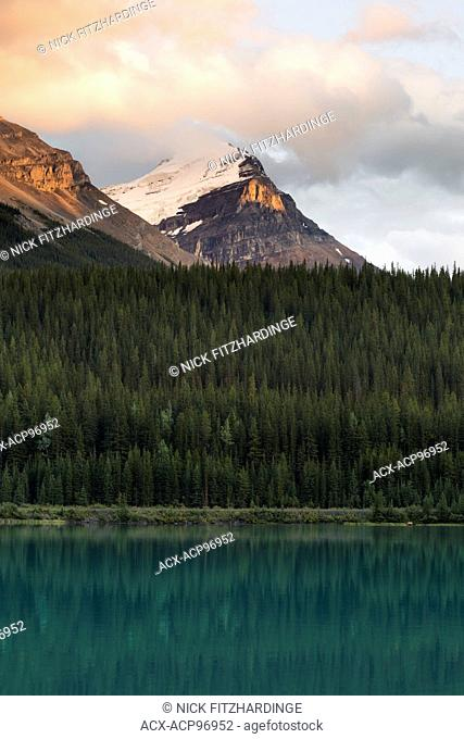 Sunset at Wapta Lake, Yoho National Park, British Columbia, Canada