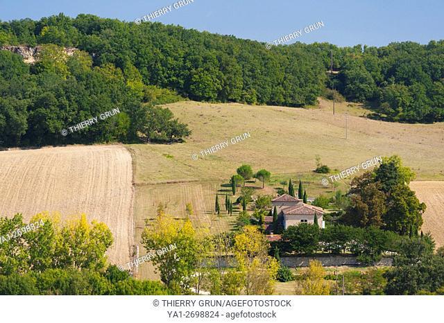 France, Gers (32), village of La Romieu on the way of Saint Jacques de Compostelle, countryside house