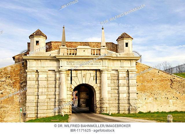 Porta Udine, Palmanova, Friuli-Venezia Giulia, Italy, Europe