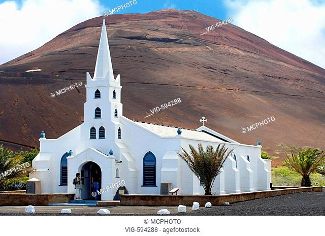 Picture of the gothic church of Georgetown on Ascension Island at the African West Coast. - 18/12/2007