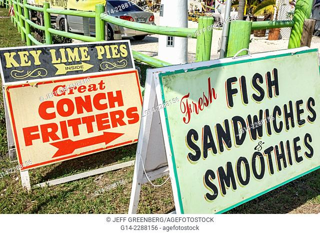USA, Florida, Islamorada, View of signs