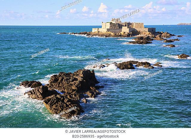 The Fort National, Saint Malo, Emerald Coast, Brittany, Bretagne, France