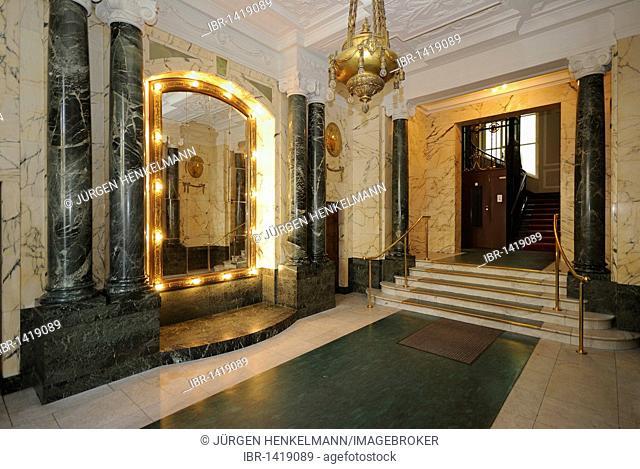 Stairwell, Wilhelminian style house, Kurfuerstendamm, Berlin, Germany, Europe