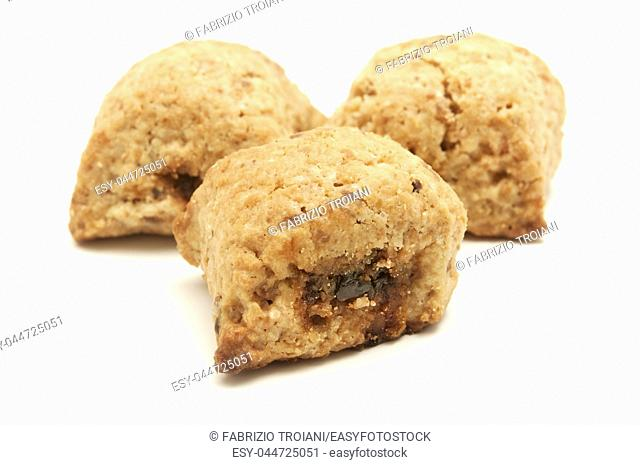 Ceglie biscuits on a white background