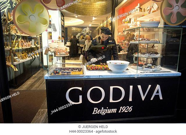 Godiva Belgian Chocolatier, Midtown Manhattan , New york