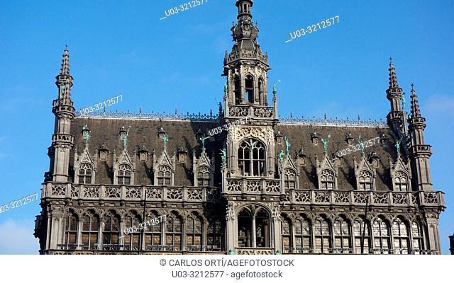 Building of the Musée de la Ville, Grand Place, the brussels main square. Brussels city, Belgium, Europe