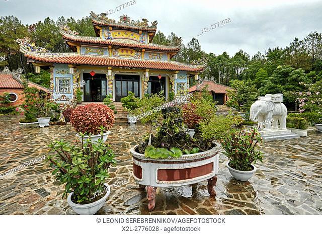 Temple of Tran Nhan Tong at the Huyen Tran Cultural Center. Hue, Vietnam