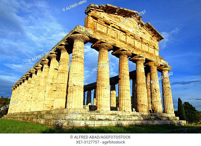 Temple of Ceres, archaeological park, Paestum, Italy