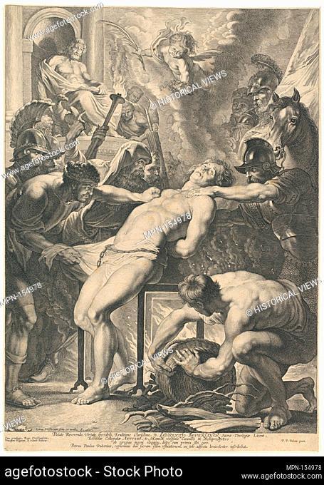 Martyrdom of St. Lawrence. Artist: Lucas Vorsterman I (Flemish, Zaltbommel 1595-1675 Antwerp); Artist: After Peter Paul Rubens (Flemish