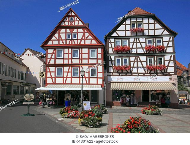 Market square of Bad Orb, Main-Kinzig-Kreis district, Hesse, Germany, Europe