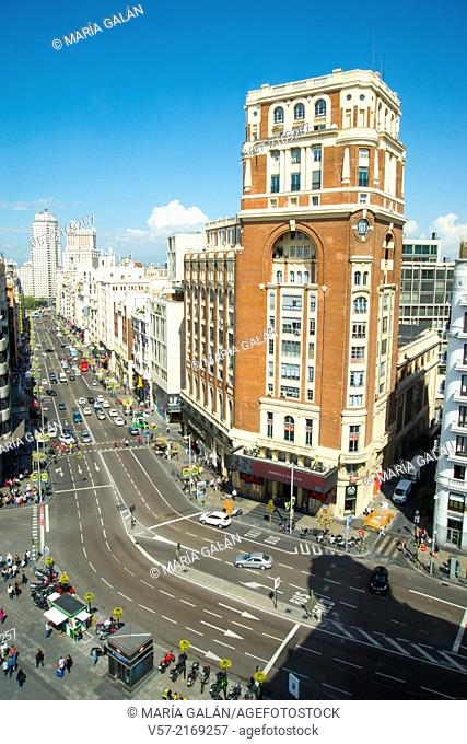 Palacio de la Prensa building. Gran Via, Madrid, Spain