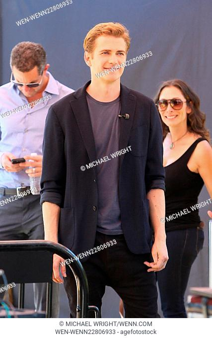 Celebrities appear on 'Extra' at Universal City Walk Featuring: Hayden Christensen Where: Los Angeles, California, United States When: 27 Aug 2015 Credit:...