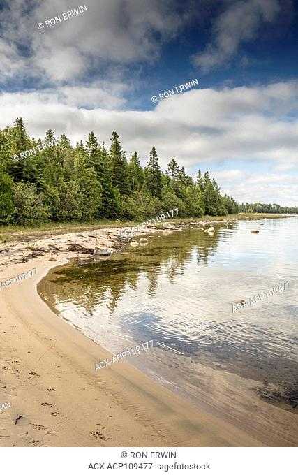 Shores of Misery Bay in Misery Bay Provincial Park on Manitoulin Island, Ontario, Canada