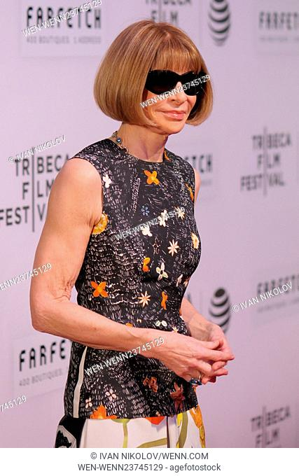 "2016 Tribeca Film Festival - """"The First Monday In May"""" World Premiere - Red Carpet Arrivals Featuring: Anna Wintour Where: New York, New York"
