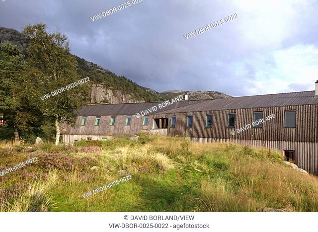 Preikestolen Mountain Lodge, situated at the head of a spectacular valley in Western Norway overlooking Lyse fjord, comprises 24