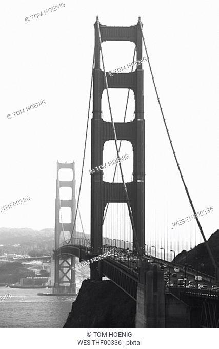 USA, California, San Francisco, view to Golden Gate bridge