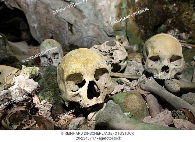 Old Skulls hidden in Rock Islands near Malwawa, Triton Bay, West Papua, Indonesia