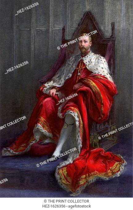 'King George V, in the year of his coronation', 1911. Painted for The Illustrated London News