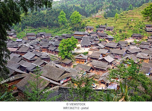 Dongzhai scenery Rongjiang County , Guizhou Province
