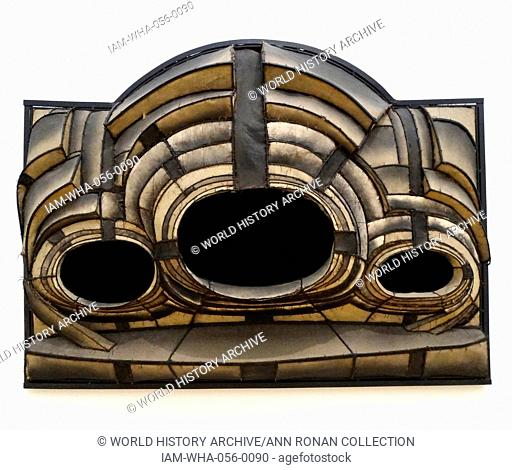 Untitled 1961 by Lee Bontecou ( b. 1931), American artist. Steel, canvas, velour, leather, copper wire, soot, paint