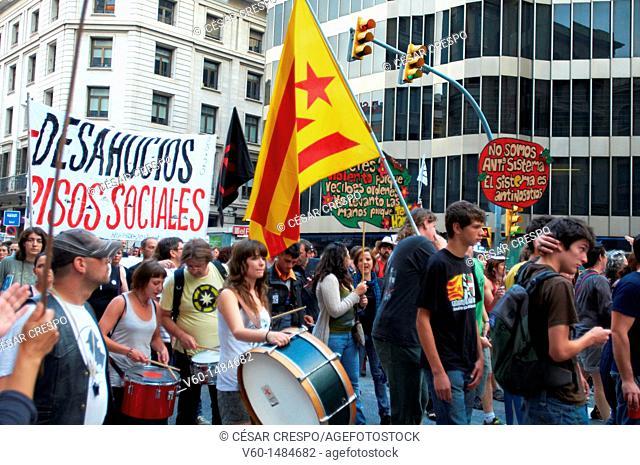 -Indignants Movement 15M- Juny 19 2011, Barcelona (Spain)