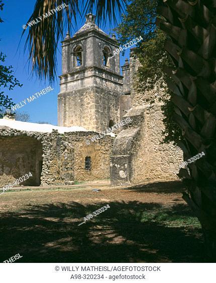 Mission Concepción (1731). San Antonio. Texas. USA