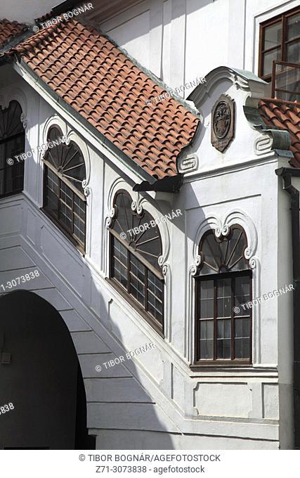 Czech Republic, Cesky Krumlov, Prelatura, museum, courtyard,