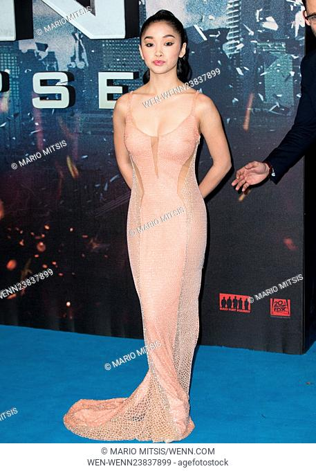 The UK premiere and fan screening of 'X-Men: Apocalypse' at the BFI IMAX - Arrivals Featuring: Lana Condor Where: London