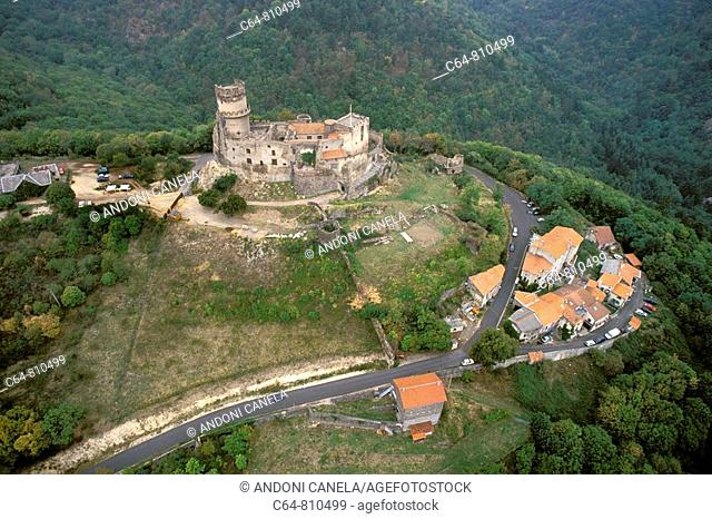 Aerial view on Auvergne region, France