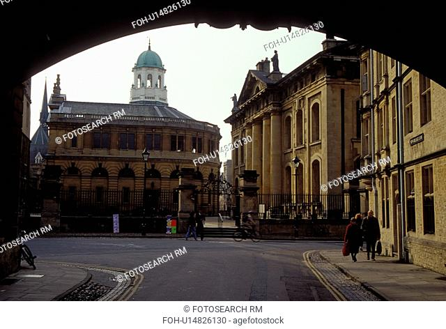 University of Oxford, Oxford, England, Great Britain, United Kingdom, Europe, Hertford College and Sheldon Theatre in Oxford, Britain's oldest university town