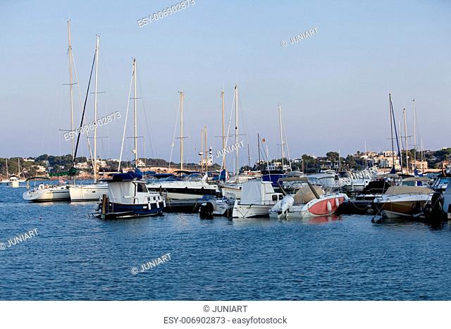 fishing boat in summer outside in sea at harbour