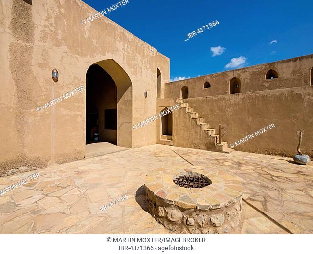 Jabrin Castle, courtyard, Jabreen, Bahlat, Ad Dakhiliyah, Oman
