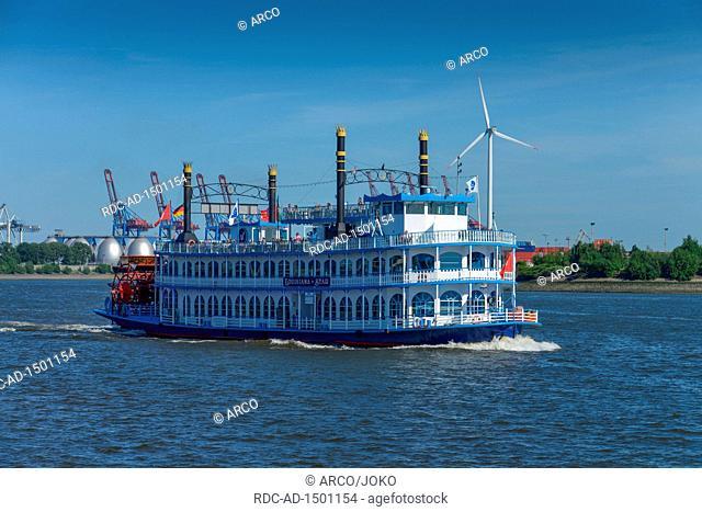 Louisiana Star, Hafenrundfahrt, Elbe, Hamburg, Deutschland